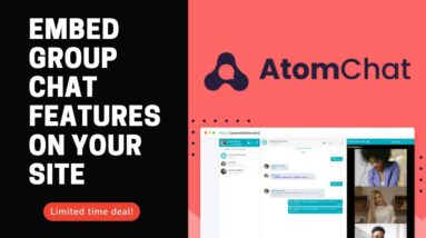AtomChat [Lifetime Deal] Embed group chat features on your site to encourage user communication