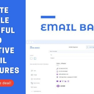🟢 Email Badge [Lifetime Deal] Quickly Create simple, beautiful, and effective email signatures