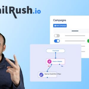 MailRush cold email marketing service with SMTP included